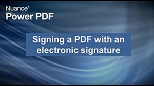 Kofax Power PDF and Electronic Signatures